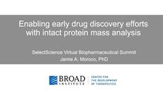 Enabling early drug discovery efforts with intact protein mass analysis