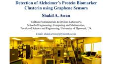 Detection of Alzheimer's protein biomarker clusterin using graphene sensors