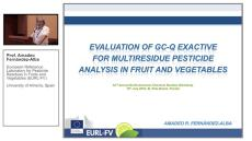 Multi-Residue Analysis of Pesticides in Fruit and Vegetables